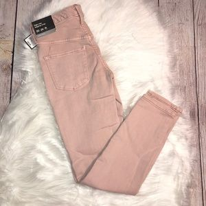 NWT PINK MOSSIMO HIGH WAIST CROP JEANS 24 00 XS